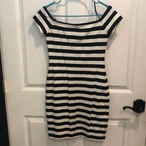 Express Dresses - Off the shoulder body con mini dress